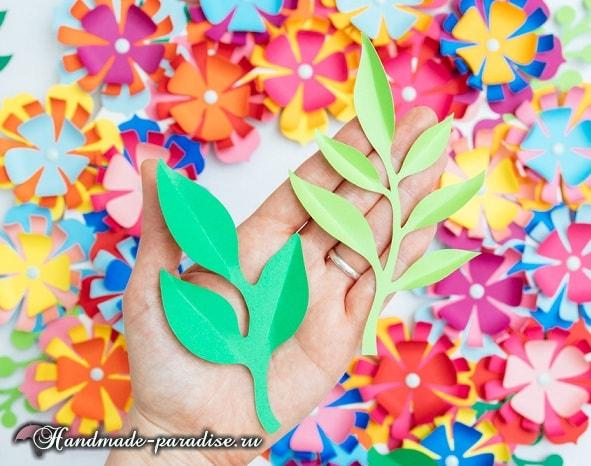 Разноцветный венок из бумажных цветов (7)