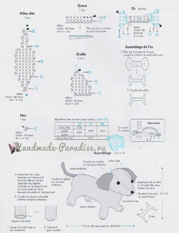 Схемы вязания собачки амигуруми (1)
