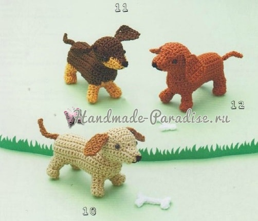 собачка схемы вязания амигуруми
