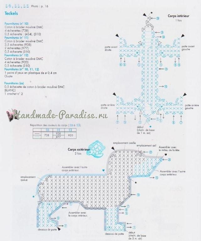 Схемы вязания собачки амигуруми (3)