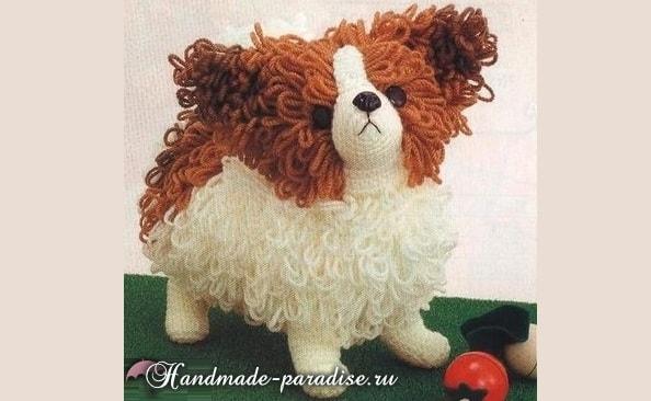 Собачка Папильон крючком. Вязание амигуруми