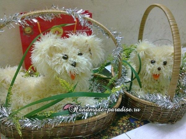 Собачка из грейпфрута для новогоднего стола (1)