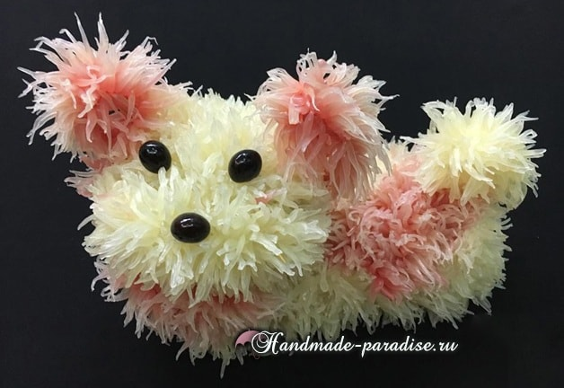 Собачка из грейпфрута для новогоднего стола (15)