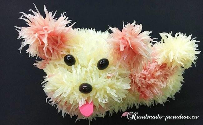 Собачка из грейпфрута для новогоднего стола (3)