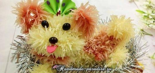 Собачка из грейпфрута для новогоднего стола (7)