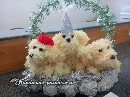 Собачка из грейпфрута для новогоднего стола (8)