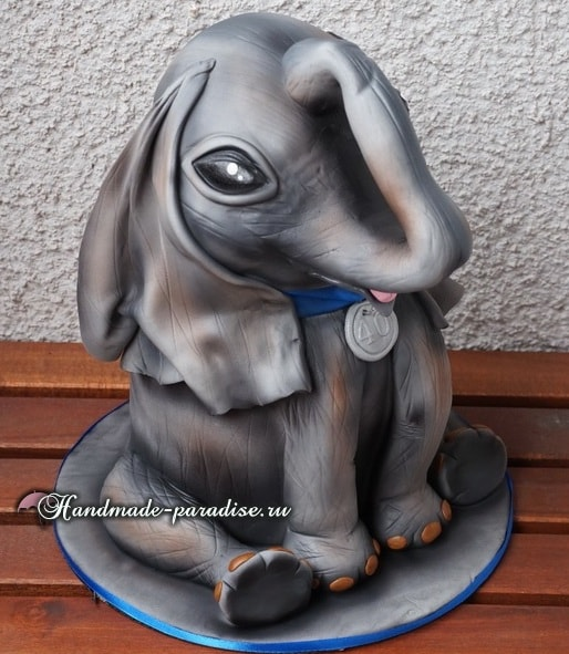 Торт «Слон» из мастики. Фото мастер-класс (1)
