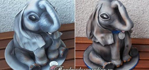 Торт «Слон» из мастики. Фото мастер-класс (2)
