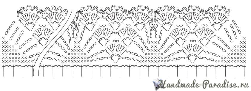 Вязаный арбуз для украшения кухонного полотенца (1)