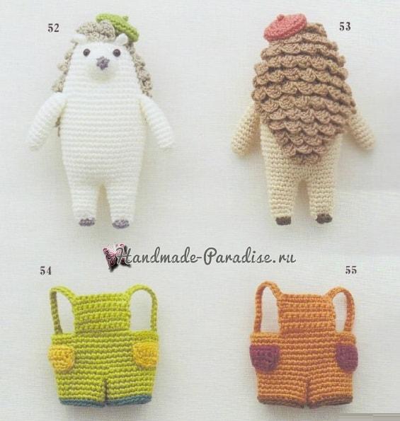 Ежики и хрюшки амигуруми. Схемы вязания (1)