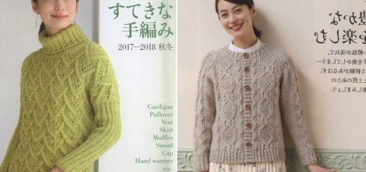 Японский журнал «Lets knit series 80554». Зима (1)