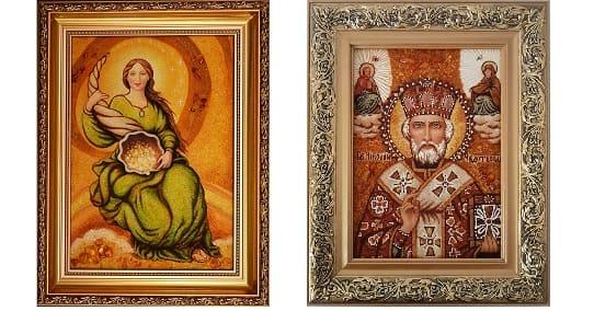 Картины из янтаря ручной работы