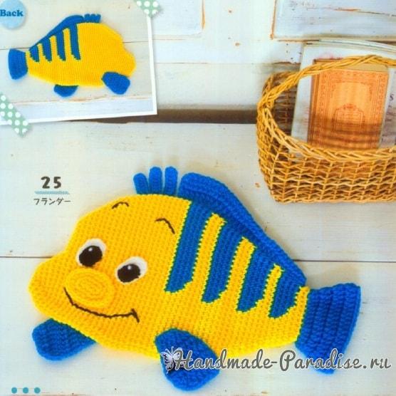 Коврики-рыбки крючком для детских игр (2)