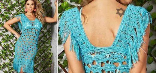 Красивое пляжное платье крючком (1)