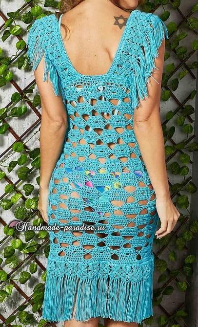 Красивое пляжное платье крючком (2)