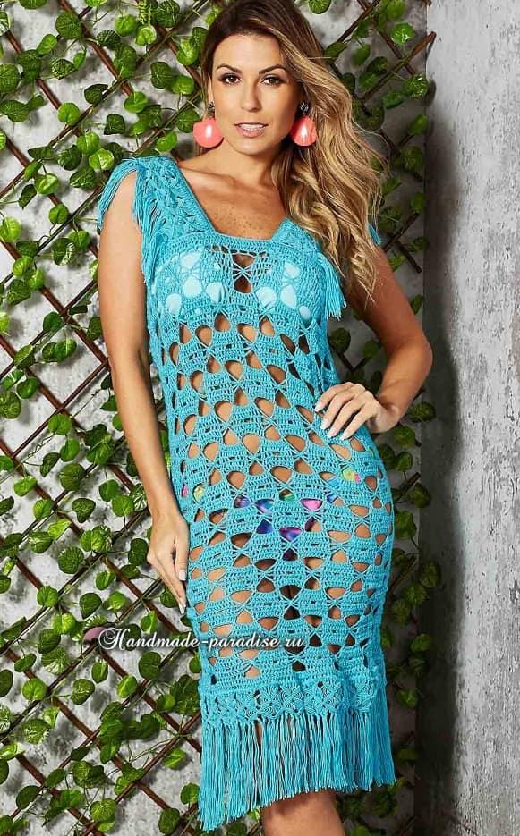 Красивое пляжное платье крючком (3)