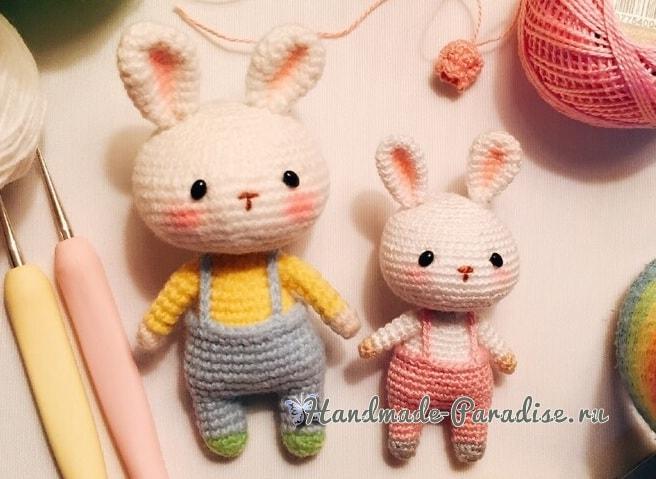 Кролики амигуруми в штанишках (1)