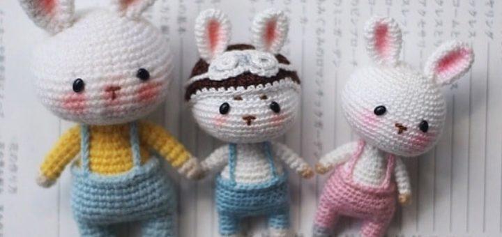 Кролики амигуруми в штанишках (3)