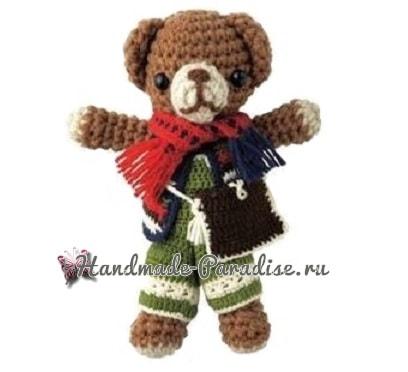Медвежонок в зимней одежке. Схемы вязания (1)