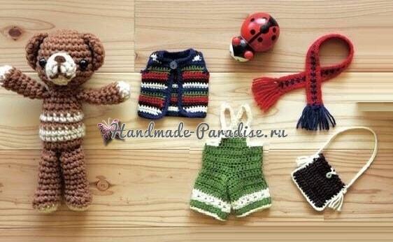 Медвежонок в зимней одежке. Схемы вязания (2)