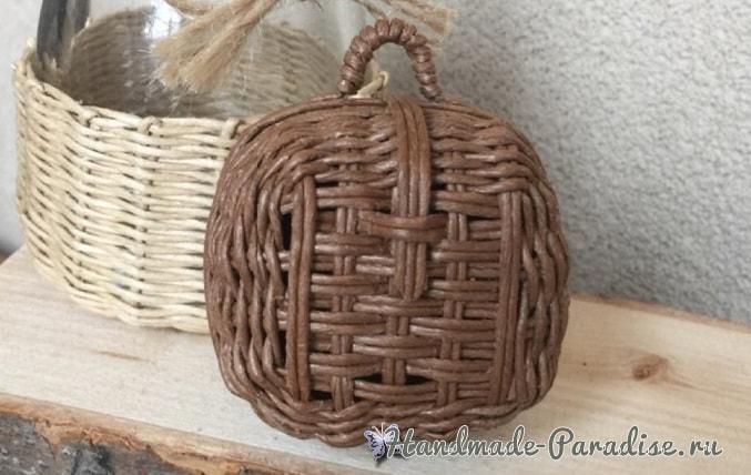 Плетение сумочки из бумажной проволоки (1)