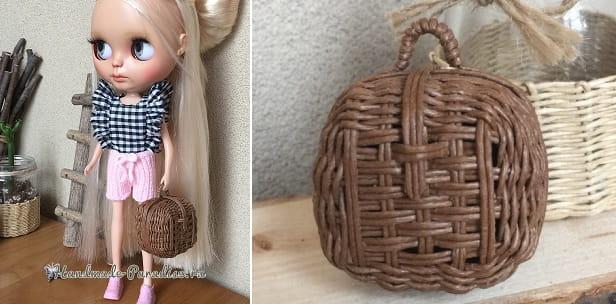 Плетение сумочки из бумажной проволоки (2)