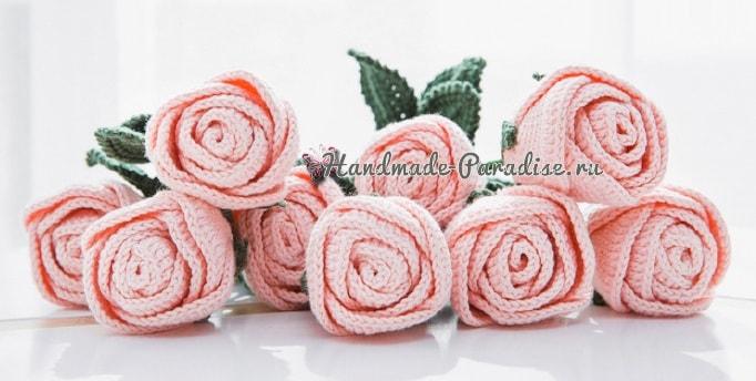 Самые красивые розы крючком. Схемы (1)