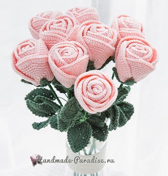 Самые красивые розы крючком. Схемы (10)