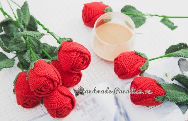 Самые красивые розы крючком. Схемы (3)