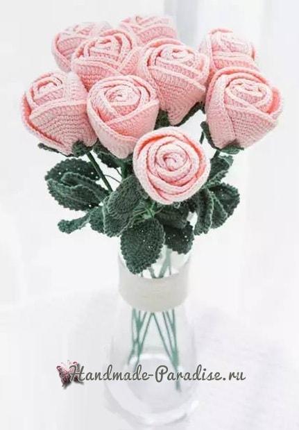 Самые красивые розы крючком. Схемы (7)