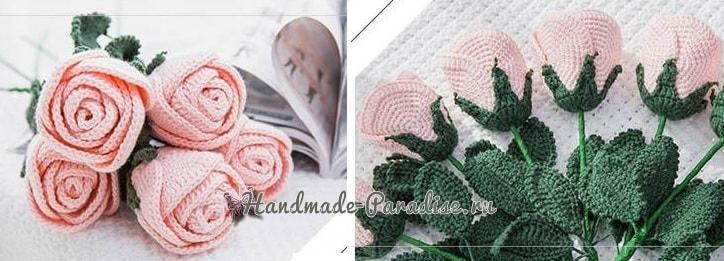 Самые красивые розы крючком. Схемы (8)