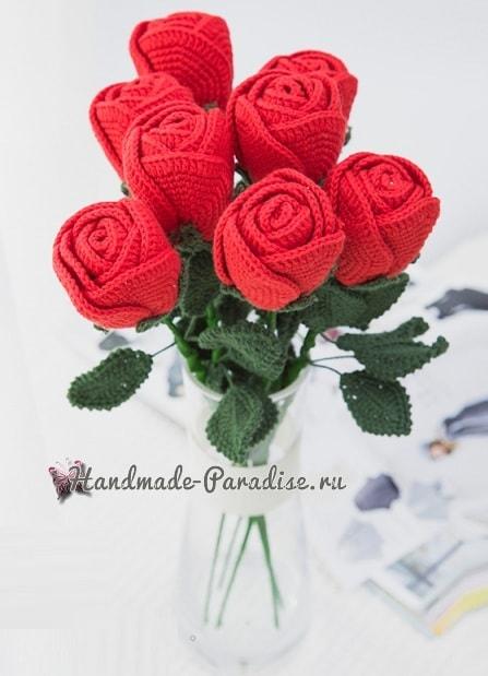Самые красивые розы крючком. Схемы (9)