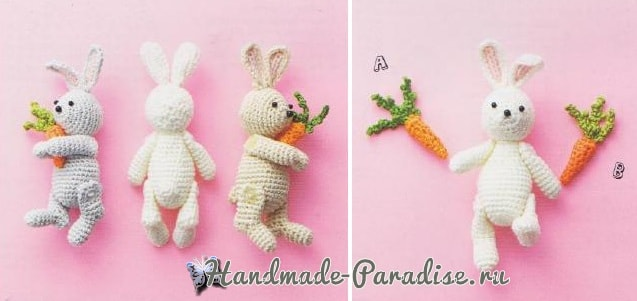 Схемы вязания кроликов с морковкой (1)