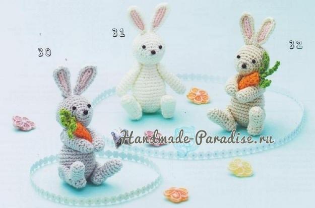 Схемы вязания кроликов с морковкой (2)