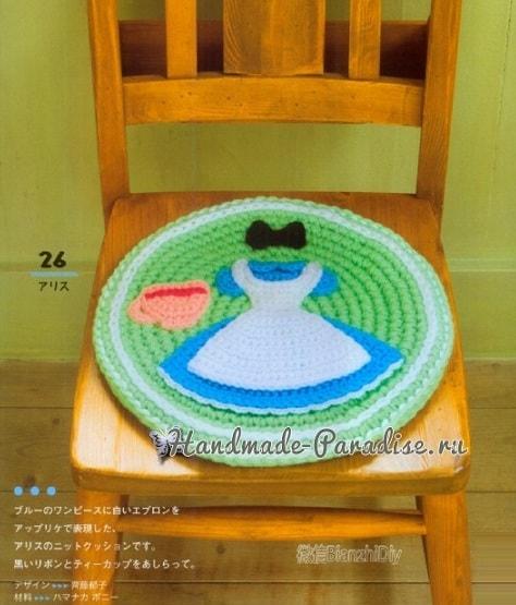 Сидушки крючком для стула в комнату девочки (1)