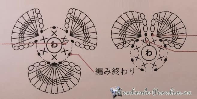 Анютины Глазки. Схемы вязания крючком (6)