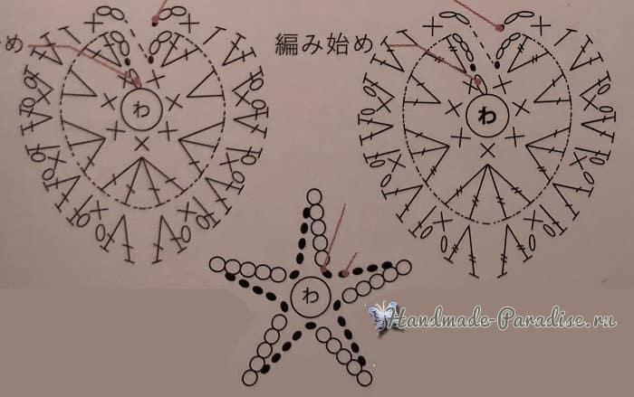 Анютины Глазки. Схемы вязания крючком (7)