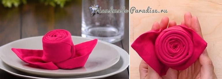 Как красиво сложить салфетку