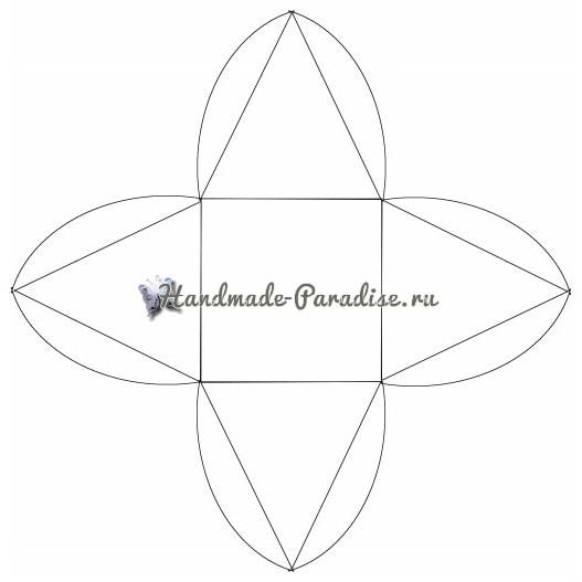 Коробочки-пирамидки для подарка своими руками (10)