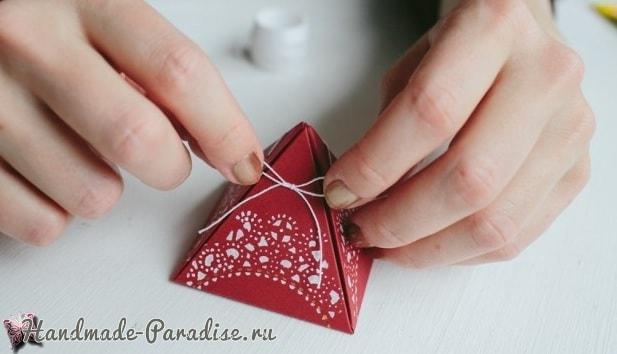 Коробочки-пирамидки для подарка своими руками (6)