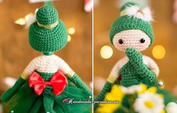 Куколка Новогодняя Елочка амигуруми (2)