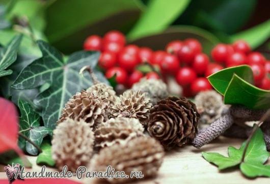 Ледяной рождественский венок (2)