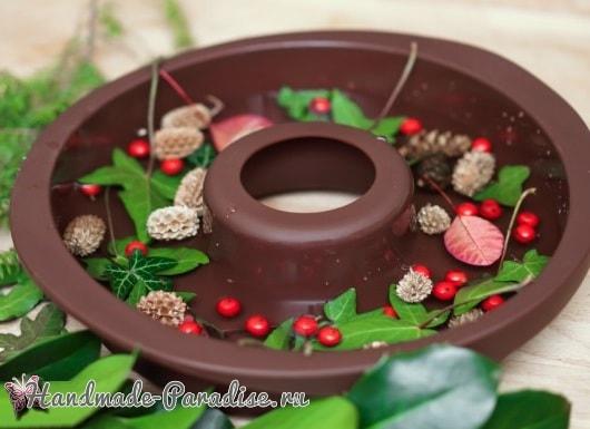 Ледяной рождественский венок (3)