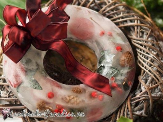 Ледяной рождественский венок (4)