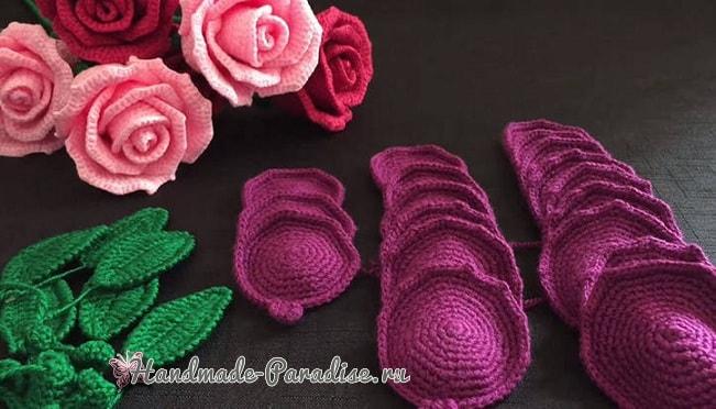 Лиловые розы крючком (2)