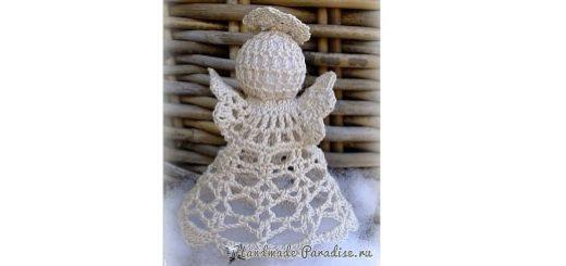 Маленький рождественский ангел крючком (3)
