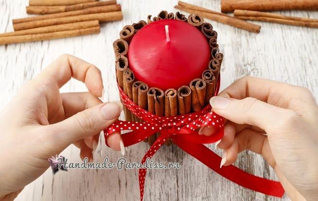 Новогодние свечи с палочками корицы (6)