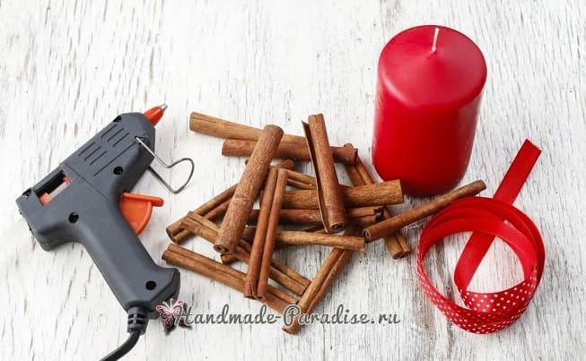 Новогодние свечи с палочками корицы (7)