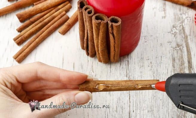 Новогодние свечи с палочками корицы (8)