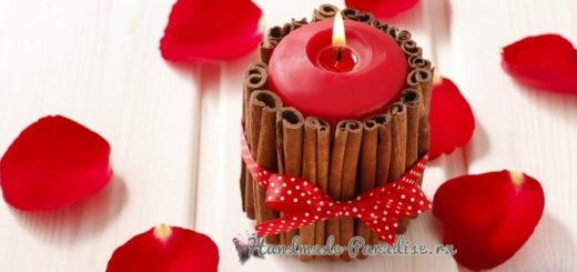 Новогодние свечи с палочками корицы (9)